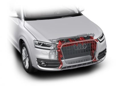 Clean air flow: in the Audi Q3, the area around the radiator is well sealed