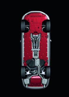 Audi A8: extensive paneling on the underfloor