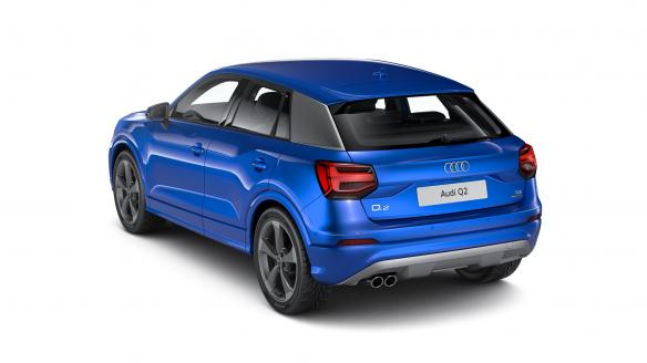Audi Q2 sport Arablau Kristalleffekt