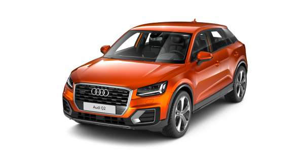 Audi Q2 design Korallenorange Metallic