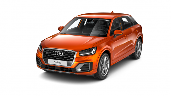 Audi Q2 sport Korallenorange Metallic
