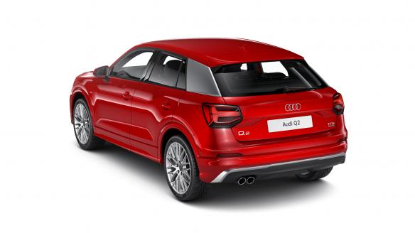 Audi Q2 S line Tangorot Metallic