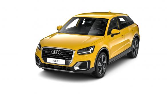 Audi Q2 design Vegasgelb