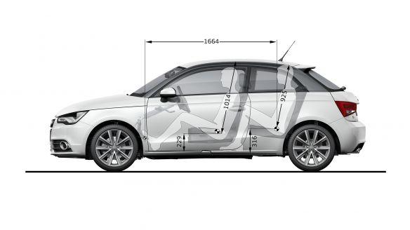 Platzverhältnisse: Der Innenraum des Audi A1
