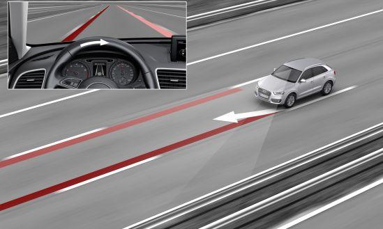 Hilfe beim souveränen Fahren: Der Audi active lane assist