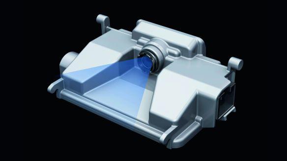 Im Bereich des Innenspiegels: Die Kamera