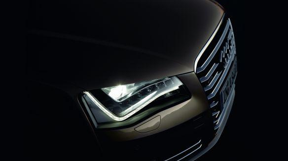 Konsequent effizient: Die LED-Scheinwerfer des Audi A8
