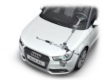 Audi A1: Elektrohydraulische Servolenkung