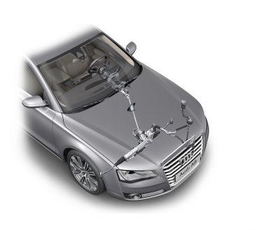 Audi A8: Hydraulische Servolenkung