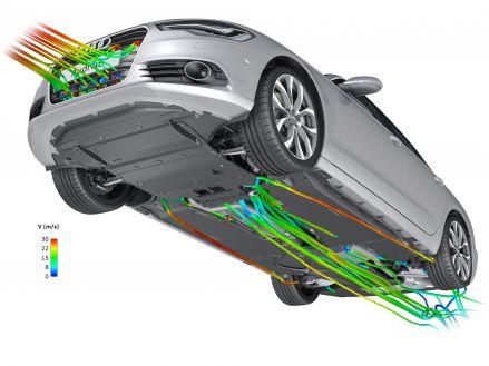 Saubere Strömung: Unterboden des Audi A6