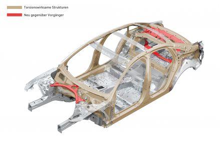 Audi A6: Torsionswirksame Strukturen in der Karosserie