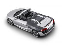 Audi R8 Spyder: Großzügiger Einsatz von CFK im Hinterwagen