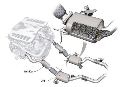 V12 TDI: Zweiflutige Abgasanlage mit jeweils einem Partikelfilter
