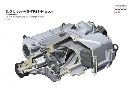 Drehkolbenlader: Der Kompressor im 3.0 TFSI
