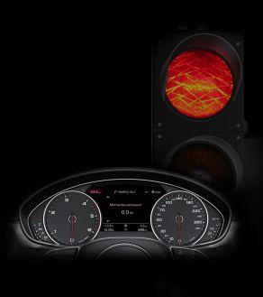 Motorstopp an der Ampel: Das Start-Stop-System, hier im Audi A6