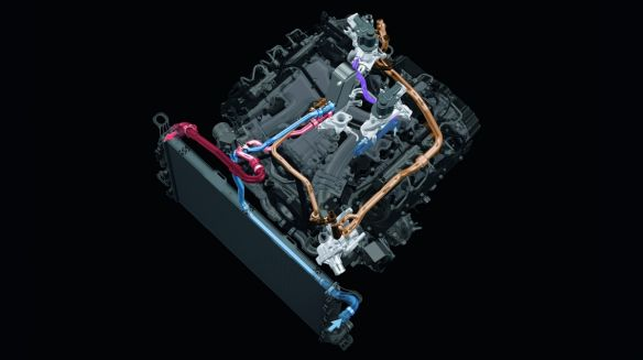 EGR in the 4.2 V8 TDI: the radiator receives cold water from an internal circuit