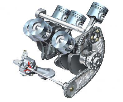 V6 gasoline engines: the balance shaft rotates in the inside V