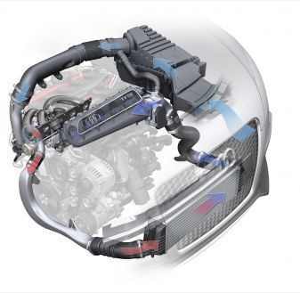 More oxygen: the charge-air cooler in the 2.5 TFSI