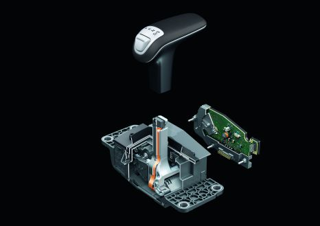 Selector lever in the Audi A8