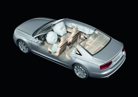 Complete protection: eight airbags in the Audi A8