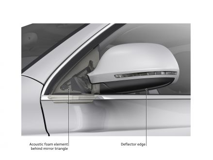 Honed for minimal noise: the exterior mirrors on the Audi Q3