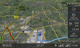 Google Earth with Traffic information online via LTE