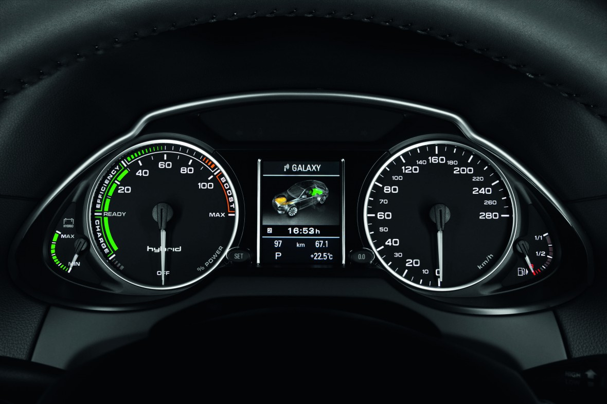 Power Flow Central Display In The Audi Q5 Hybrid Quattro