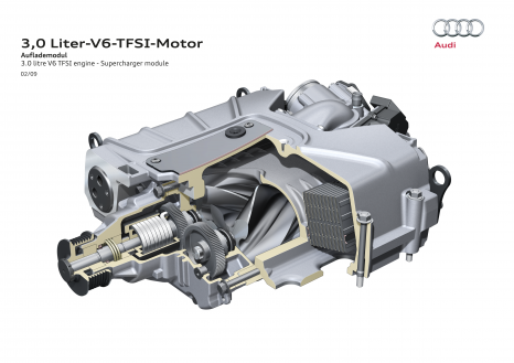 Positive-displacement supercharger: the supercharger in the 3.0 TFSI