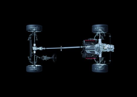 Special layout: the drivetrain on the Audi R8