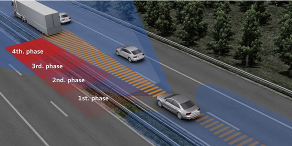 Enhanced safety: Audi pre sense assists the driver in multiple stages