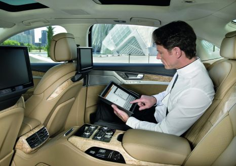 Fully networked: Wi-Fi hotspot in the Audi A8