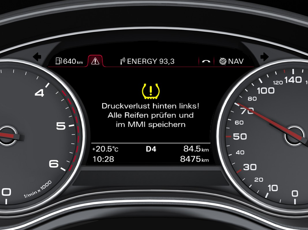 Tire pressure monitoring system - Audi Technology Portal