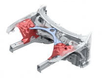 Innovative Lösungen: Vorderwagen des Audi A6