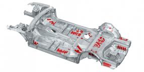 Audi A6: Sicken im Unterboden dämpfen Schwingungen