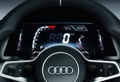 Display der Zukunft: Frei konfigurierbare Instrumente, hier im Showcar Audi quattro concept
