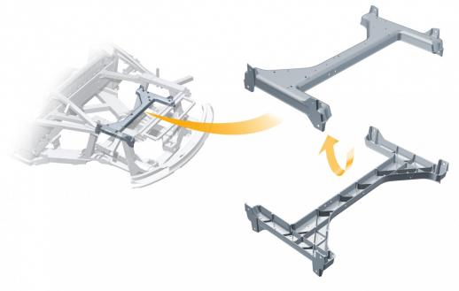 Audi R8: Motorrahmen aus ultraleichtem Magnesium