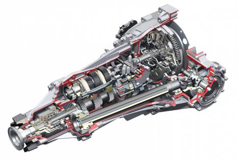 Integriertes Mittendifferenzial: Sechsganggetriebe für quattro-Antrieb