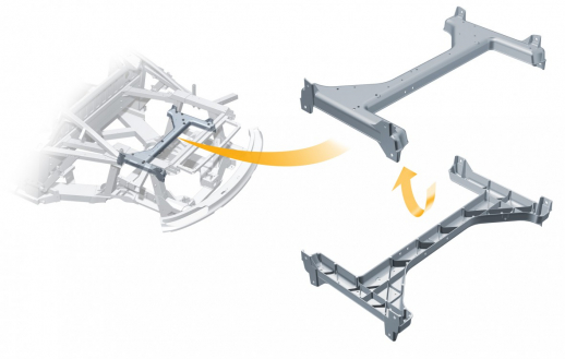 Audi R8: engine frame made from ultra-light magnesium