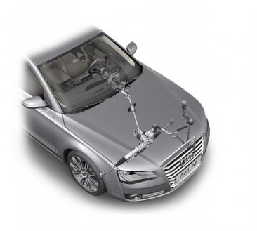 Audi A8: hydraulic power steering