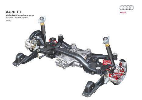 Complex: four-link rear suspension in the Audi TT quattro
