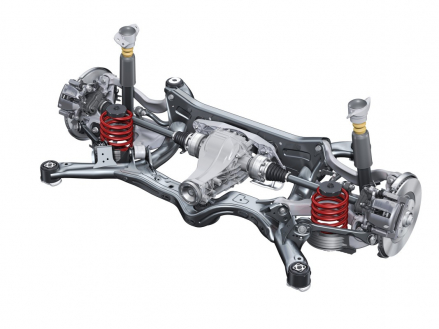 High-tech solution: self-tracking trapezoidal-link rear suspension in most of the larger model lines like the new Audi A6