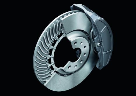 Maximum performance: disk brake on the Audi A8