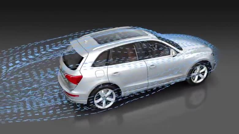 Air flow around the Audi Q5