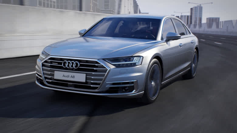 Audi A8 - Dynamic all-wheel steering