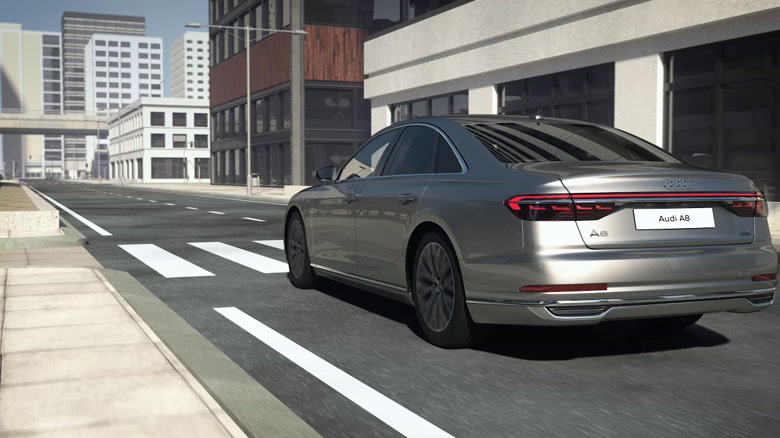Audi A8 - Mild Hybrid Electric Vehicle (MHEV) with active suspension