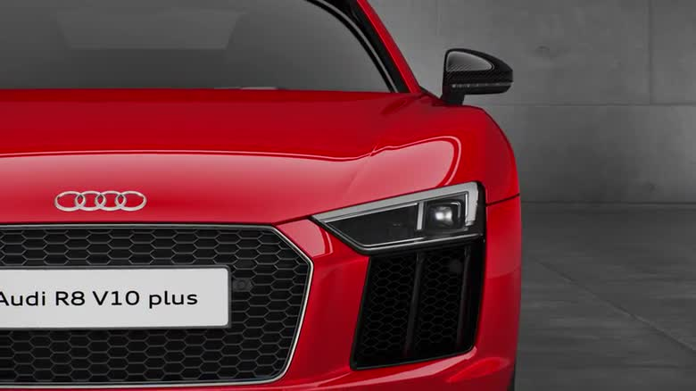 Audi logo laser lights r8 v10 plus